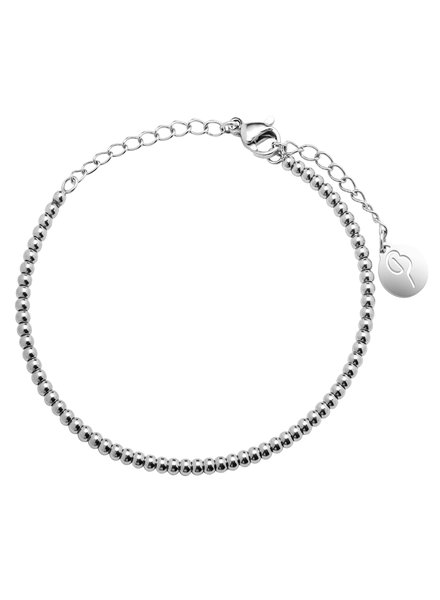 Domino armband zilver