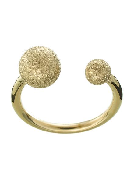 Atom ring glitter goud