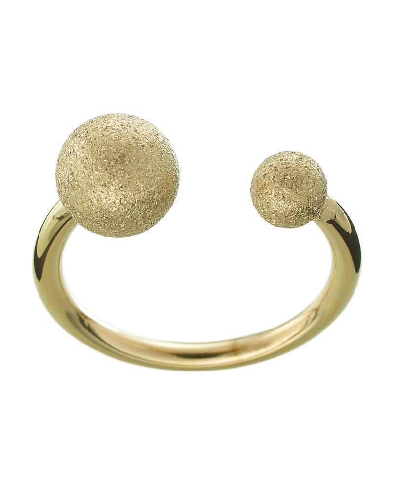 Edblad EDBLAD Atom ring | kleur glitter goud