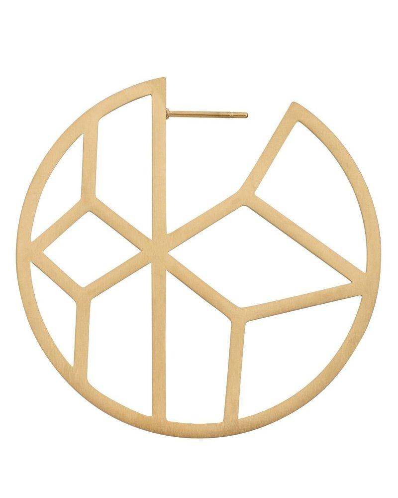 EDBLAD  Shirin oorbellen   kleur mat goud