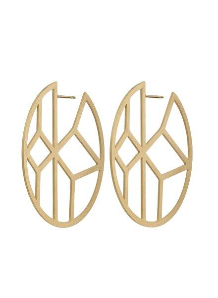 Shirin oorbellen mat goud