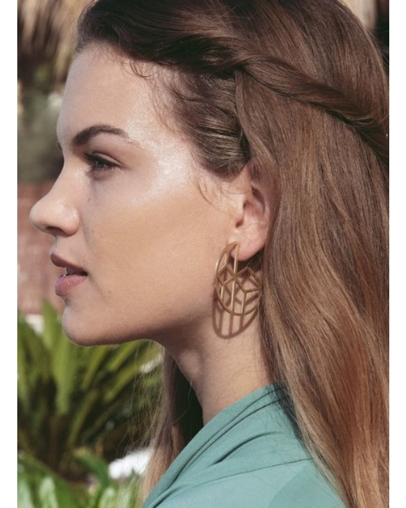 Edblad EDBLAD  Shirin oorbellen | kleur mat goud