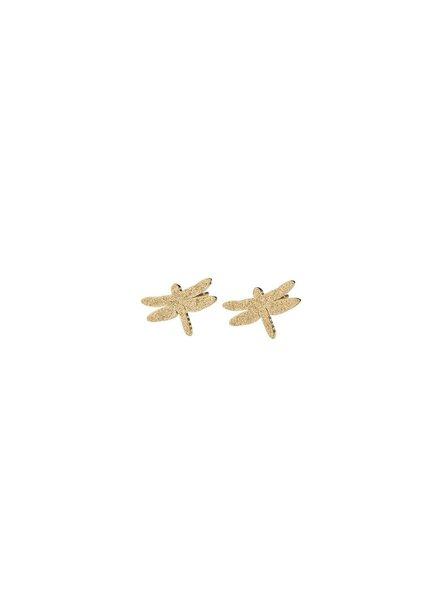 Dragonfly oorbellen sparkle gold