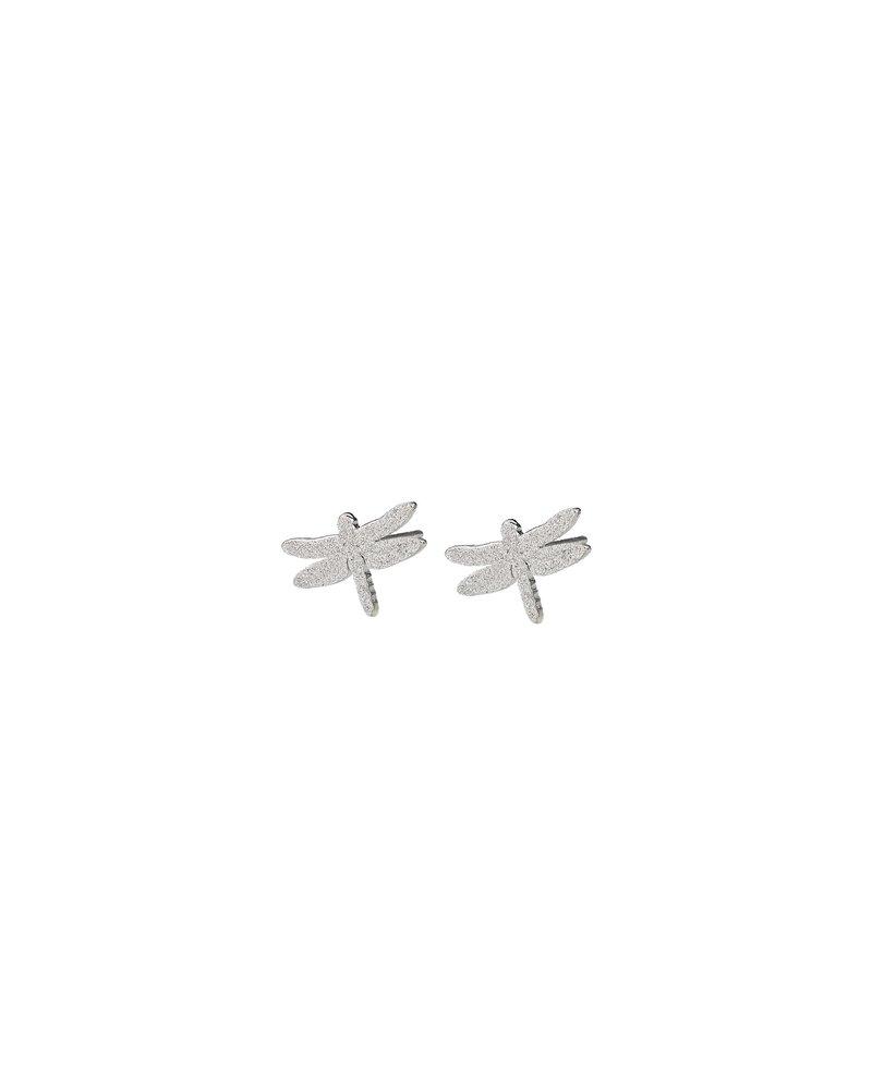 EDBLAD  Dragonfly oorbellen | kleur zilver