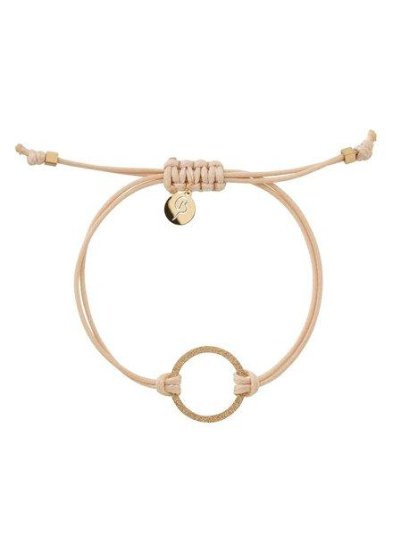 Edblad Circle cord armband kleur nature/goud