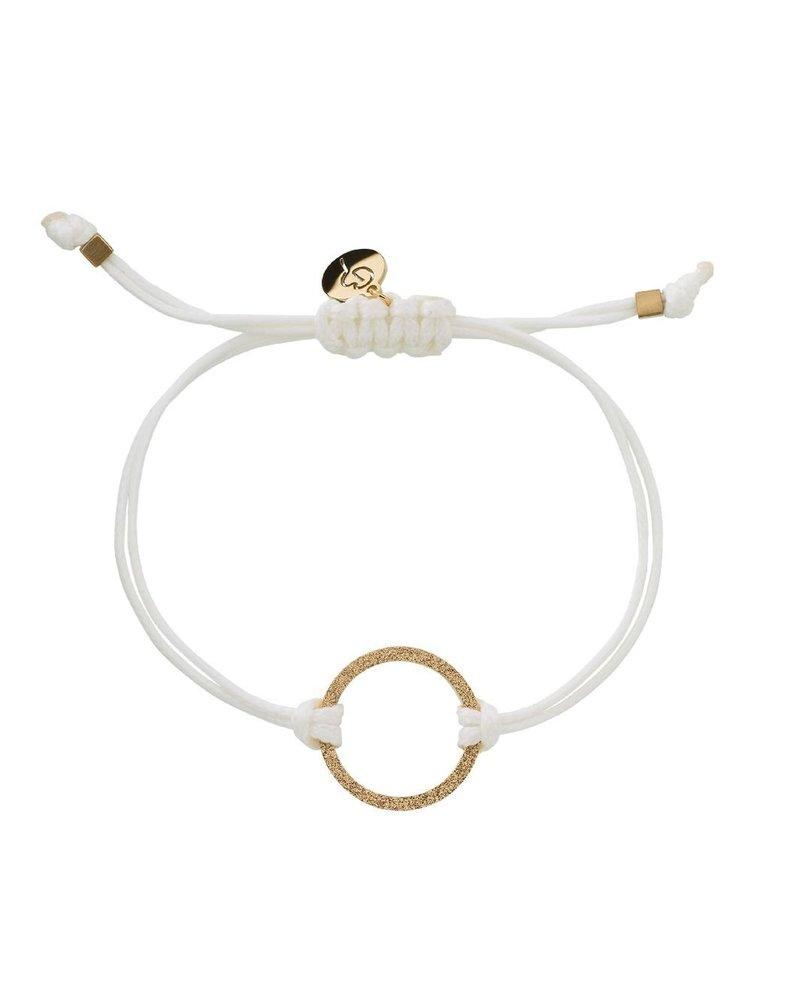 Edblad Edblad Circle cord armband | kleur wit/goud