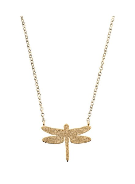 Dragonfly ketting sparkle gold