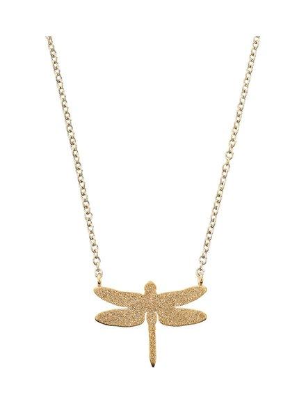 Edblad Dragonfly ketting sparkle gold