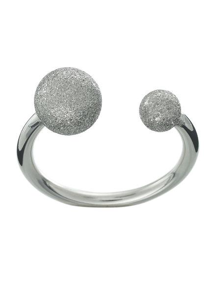 Atom ring glitter steel