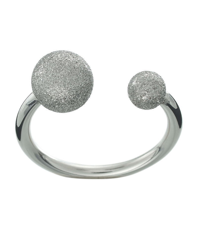 EDBLAD Atom ring | kleur glitter steel
