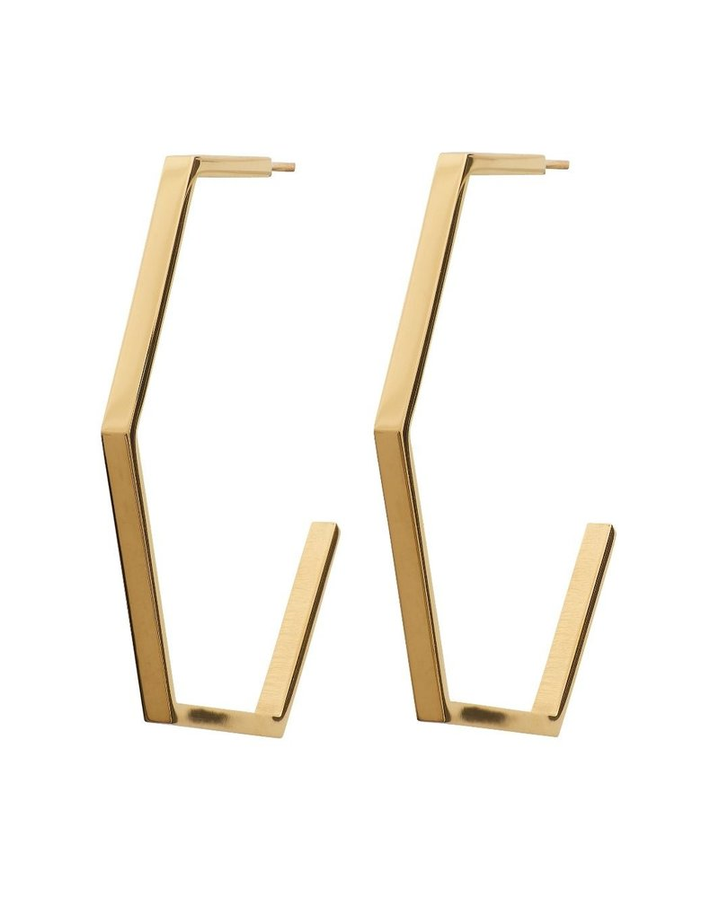 Edblad EDBLAD  Hexagon oorbellen | kleur goud