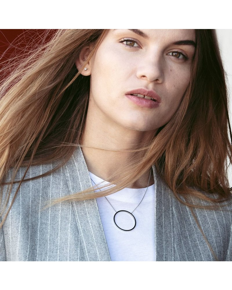 Edblad Edblad Circle ketting | kleur zilver