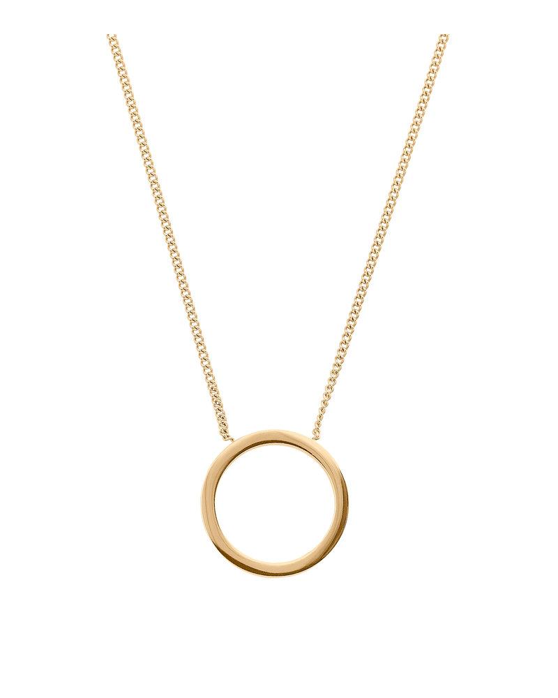 Edblad Edblad Circle ketting klein   kleur mat goud