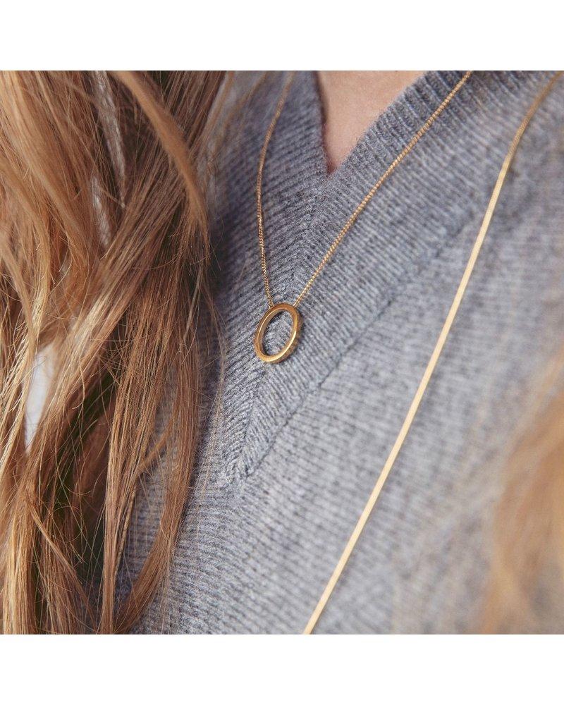 Edblad Circle ketting klein | kleur zilver