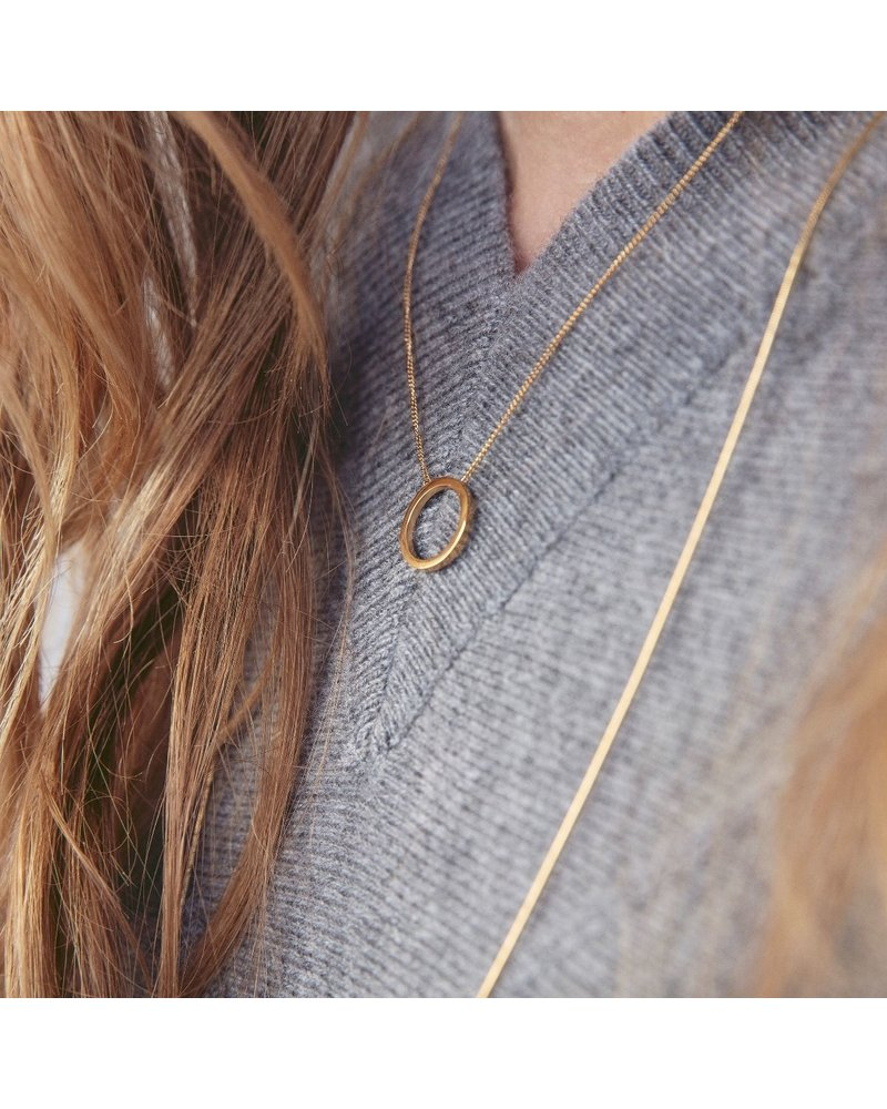 Edblad Edblad Circle ketting klein | kleur zilver