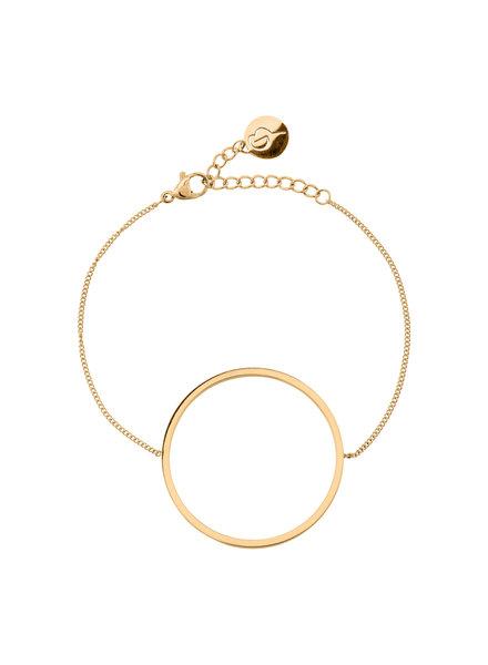 Circle armband kleur goud