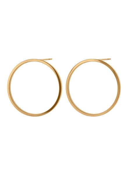Edblad Circle oorbellen goud