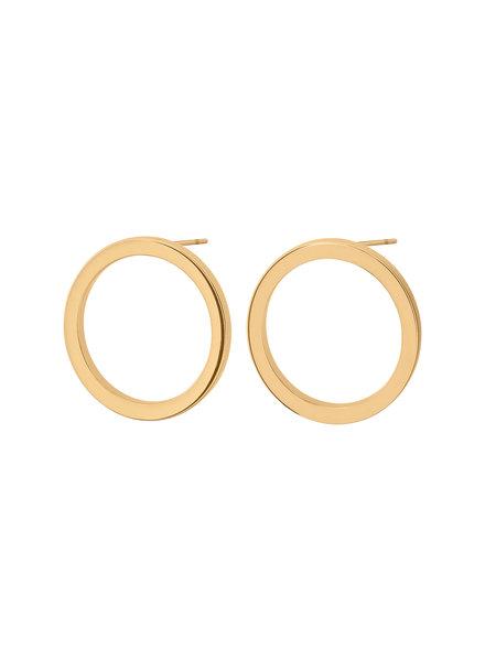 Edblad Circle oorbellen (klein) goud