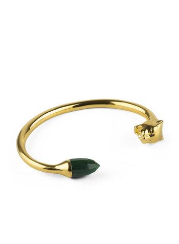 Syster P Panthera  bangle goud-groen