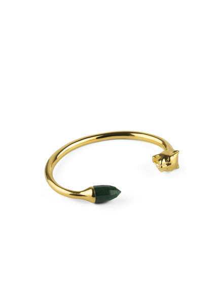 Syster P Panthera  bangle goud-groen