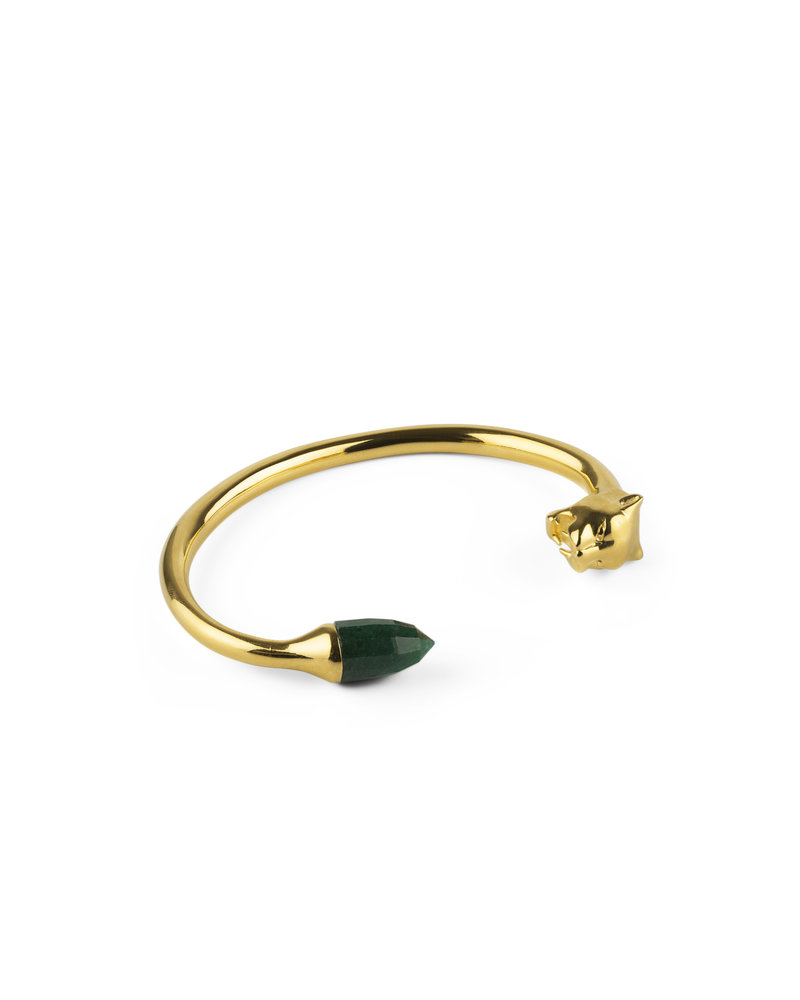Syster P Syster P Minimalistica bangle | goud-groen