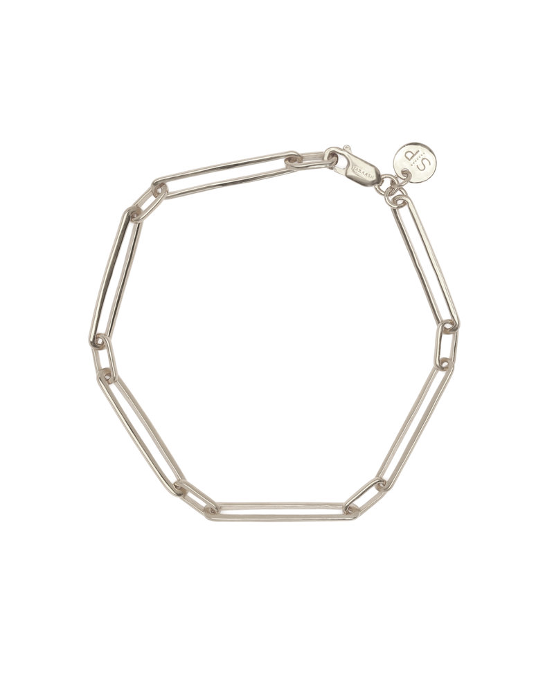 Syster P Syster P Links Squared armband | zilver
