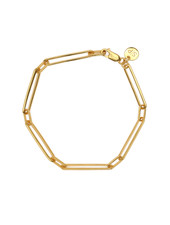 Syster P Links Squared armband goud