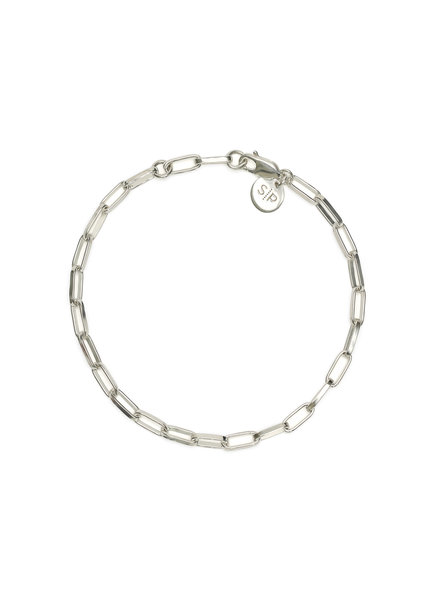 Syster P Links Squared small armband zilver