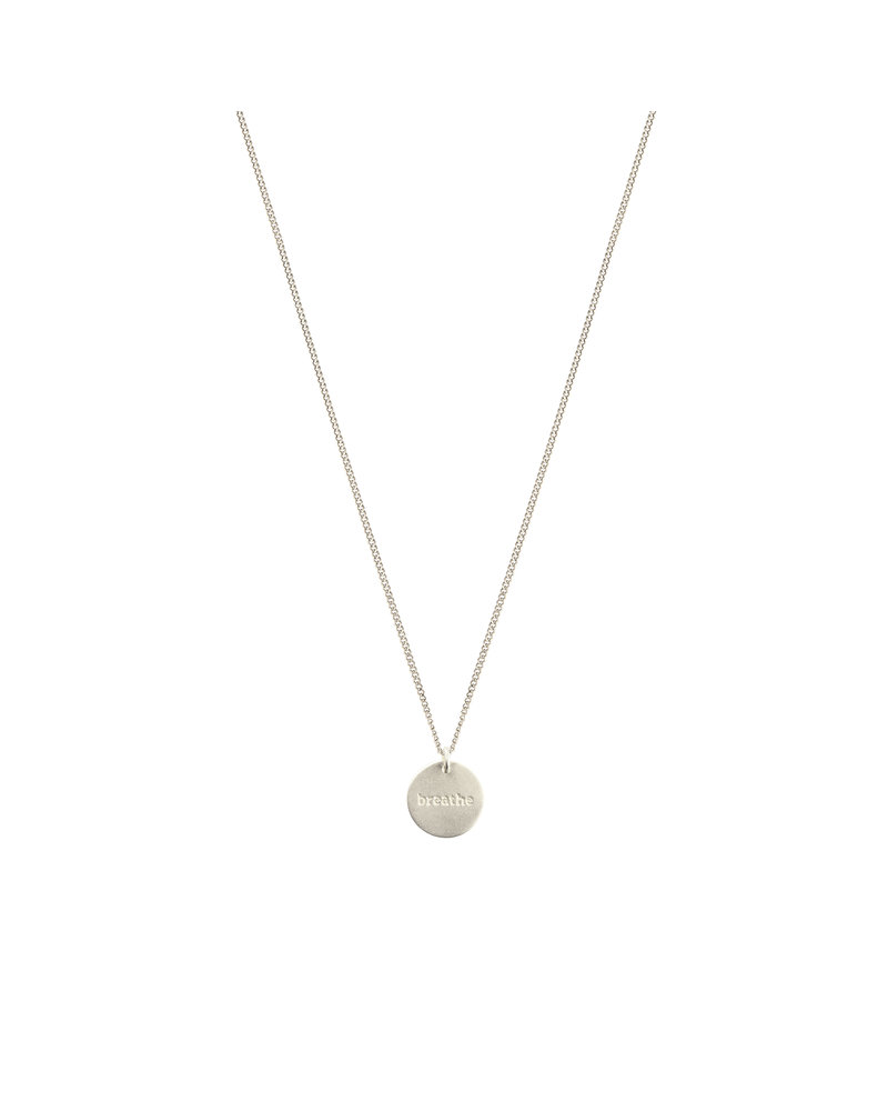 Syster P Syster P Minimalistica Breathe ketting | zilver