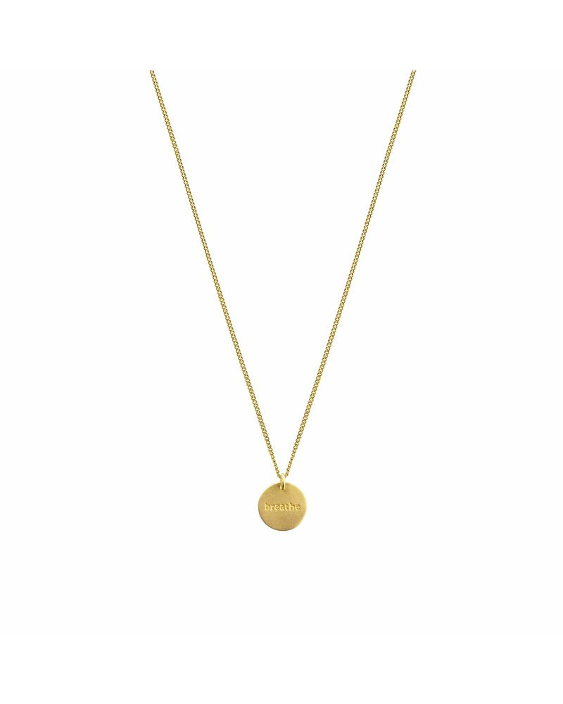 Syster P Syster P Minimalistica Breathe ketting   goud