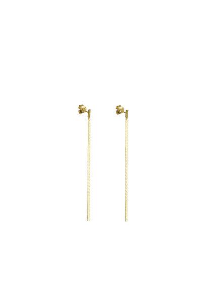 Syster P Herringbone oorbellen goud