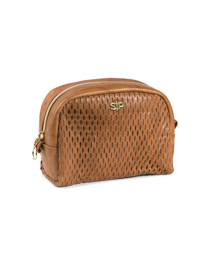 Syster P Syster P Honeycomb toilettas (klein) | cognac