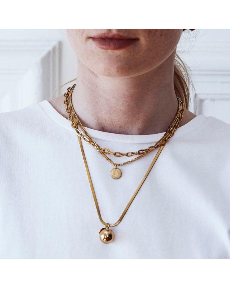 Edblad Edblad Chain Linked small 40 cm| kleur goud