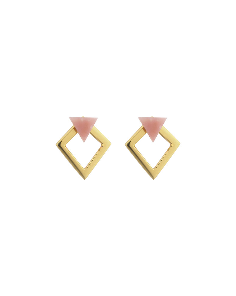 Syster P Syster P Angled oorbellen | roze/goud
