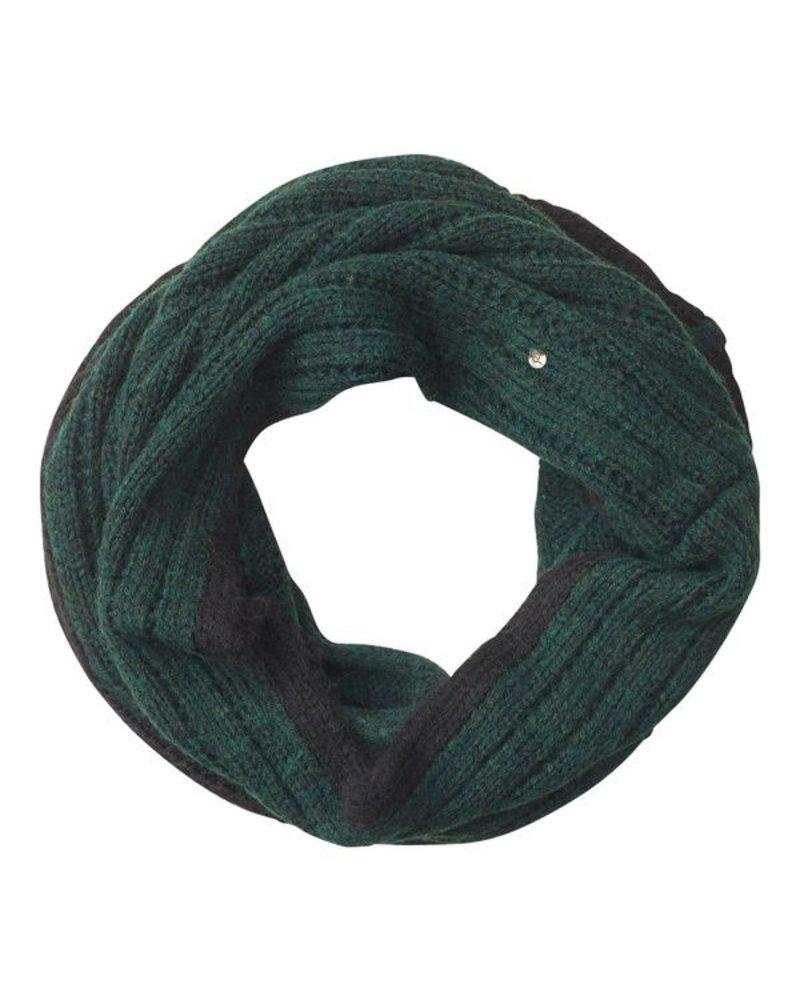 Edblad EDBLAD  sjaal Greta Ribbed tube | kleur groen