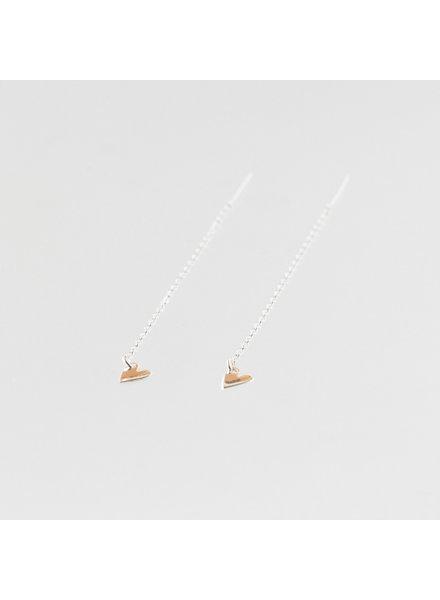 Julia Otilia Tiny heart oorbellen | zilver