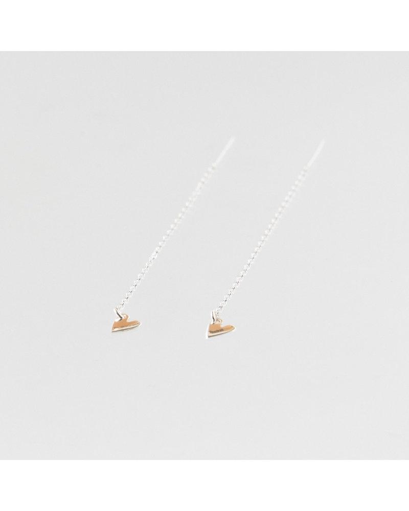 Julia Otilia Julia Otilia Tiny heart oorbellen | Zilver
