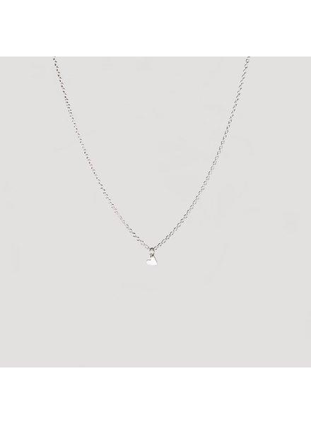 Julia Otilia Tiny heart ketting | zilver