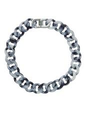 Edblad Malibu ketting zwart/zilver