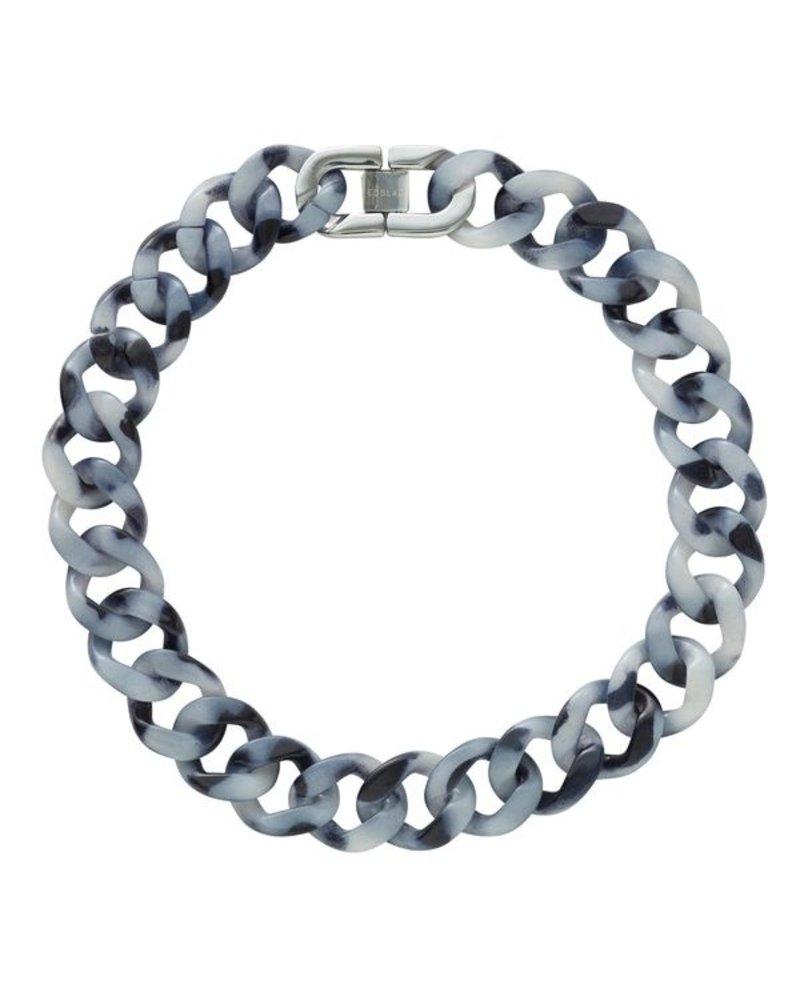 Edblad Edblad Malibu ketting | kleur zwart/zilver