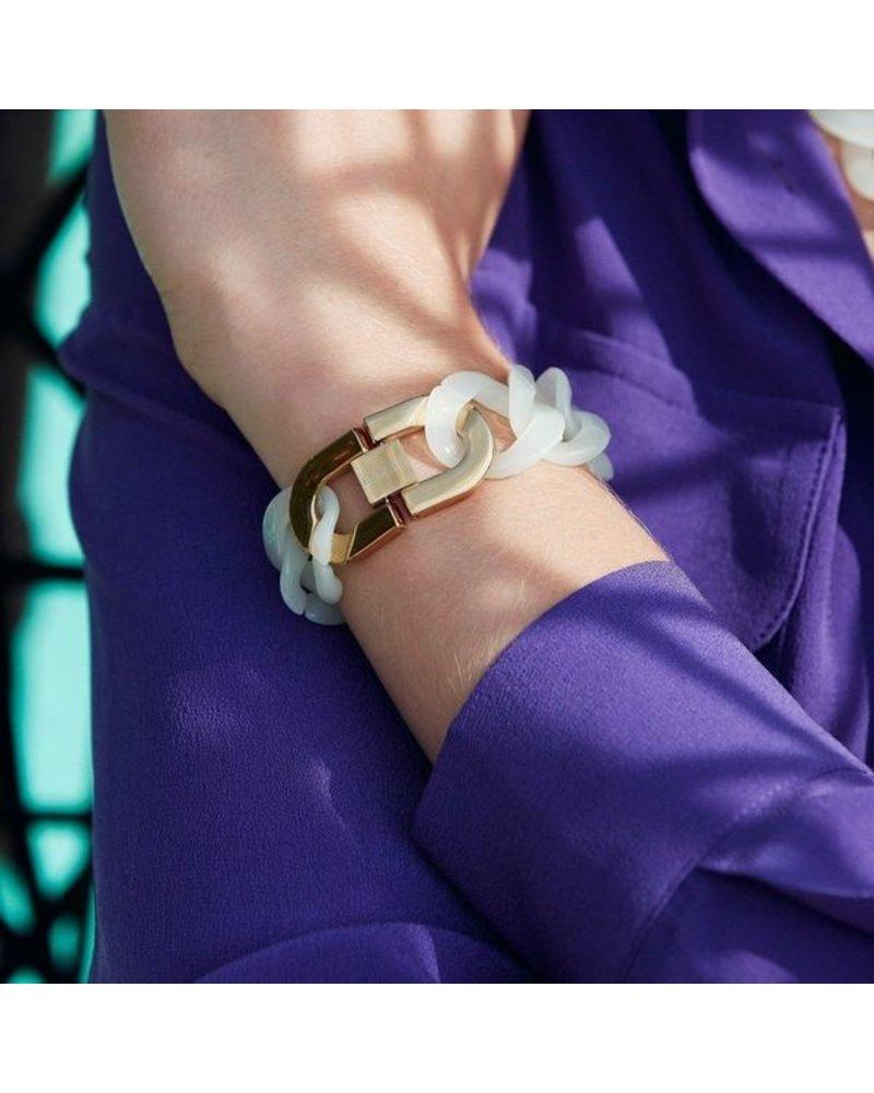 Edblad Edblad Malibu armband | kleur poolblue/goud