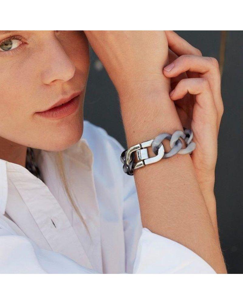 Edblad Edblad Malibu armband | kleur zwart/zilver