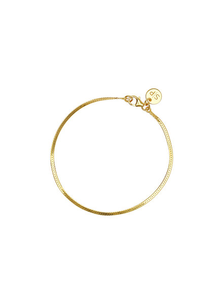 Syster P Herringbone armband goud