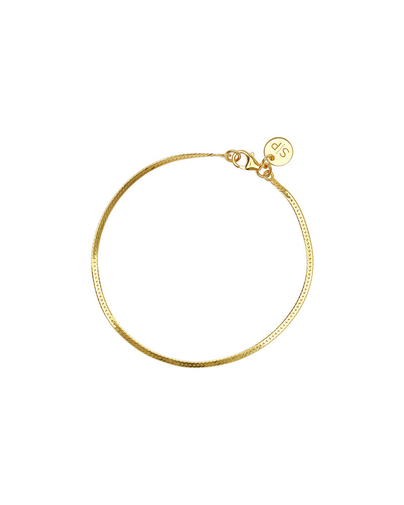 Syster P Syster P Herringbone armband   goud