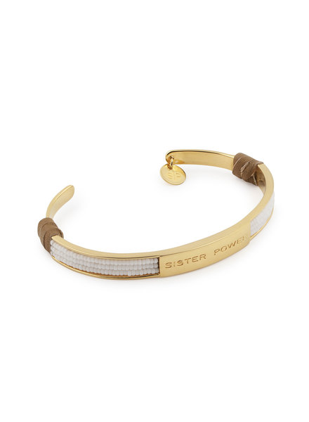 Syster P SysterP Sister Power armband goud/wit