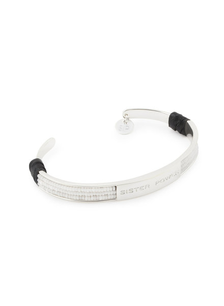 Syster P SysterP Sister Power armband zilver/wit