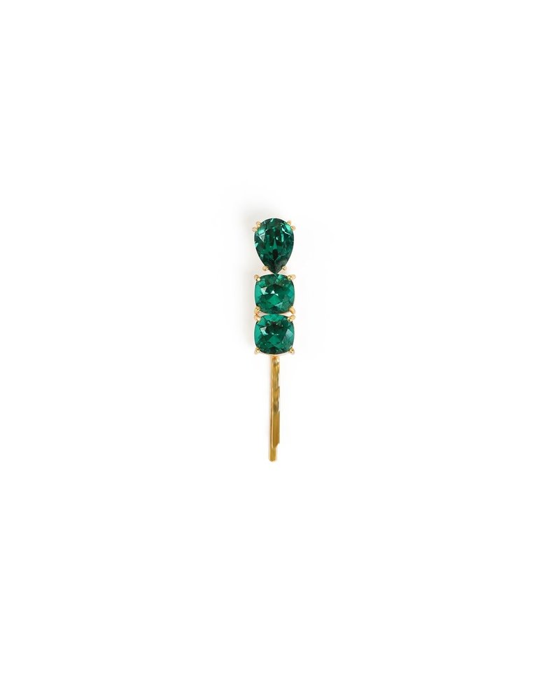 Syster P SysterP Triple Drop Bobby haarspeld | emerald green
