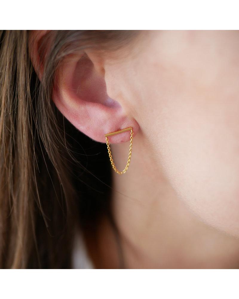 Enamel Enamel Siri oorbellen | goud