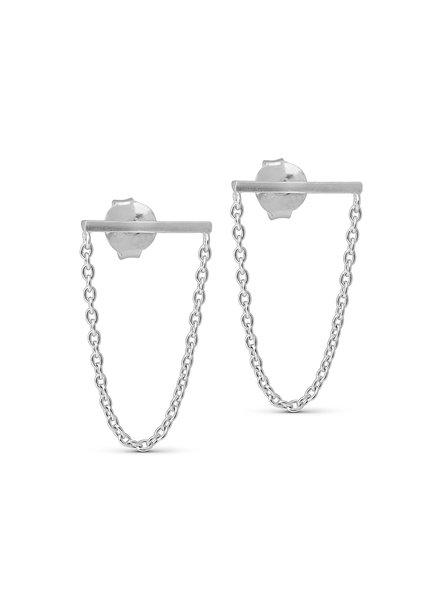 Enamel Siri oorbellen | zilver