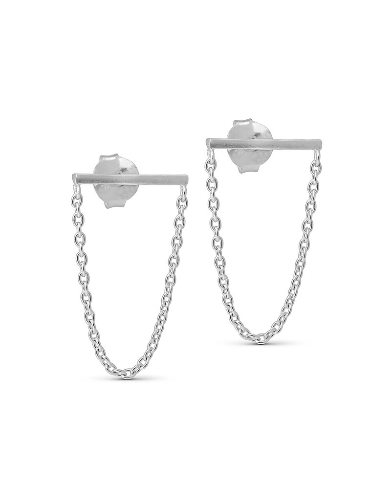 Enamel Enamel Siri oorbellen | zilver